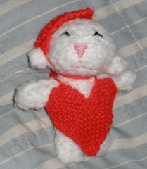 Lambie Loveykins for D's Valentine's Day (theknittycat) Tags: red cute classic love hearts toy toys knitting day pattern hand heart sweet knit handknit valentine made lamb lambs valentines knitted peeps amigurumi lambie freepattern lambies ravelry knittycat theknittycat
