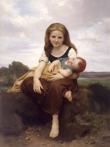 447px-William-Adolphe_Bouguereau_(1825-1905)_-_The_Elder_Sister_(1869)