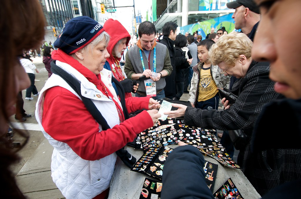 Pin Trading is Big at the Olympics