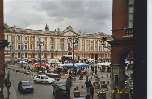 2001-03-10 Toulouse France (Place du Capitole from l'hotel Grand Balcon 2)
