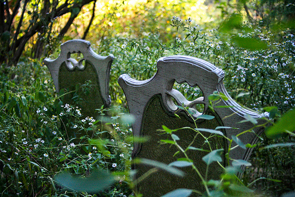 antique tombstone chairs