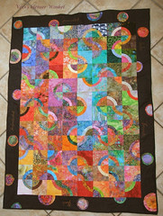 Wunschquilt - Quilt Of Wishes (Veri's kleiner Winkel) Tags: blue red orange green rot yellow cat rainbow colorful quilt sewing moda gelb quilting winkel bullseye blocks colourful grn blau patchwork pipeline bunt kleiner regenbogen fabrics batik stoffe nhen rjr fassett bulleyes batic veris blcke