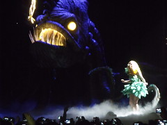Monsterr (lilyl'estrange) Tags: show fish green monster lady amazing concert tour dress singing cone live attack fame belfast epic immense gaga odessey ladygaga