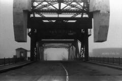 Scan10444 (citatus) Tags: morning bridge bw toronto canada fog lift minolta 102 1970 1980 cherrystreet srt milnesfueloil
