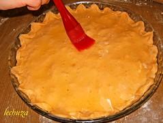 Empanada jamon y queso-bañamos con aceite
