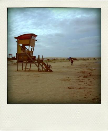 A praia no Cabo Polónio