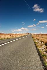 Convergence (Hugh W.P. Hamill) Tags: road school ireland sky irish galway landscape nikon contrail perspective connemara d80 scoil