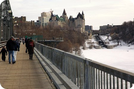 View of Ottawa from the bridge