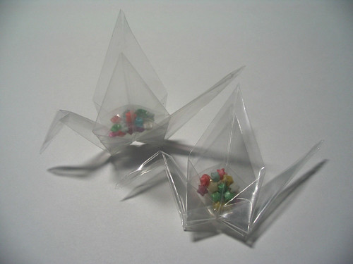 Origami Cranes by PaperPeaches.