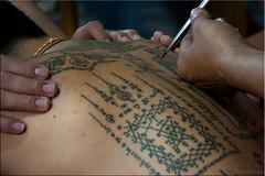 I've Got Your Back (Ursula in Aus) Tags: tattoo thailand yantra tattooing waikhru nakhonpathom นครปฐม ประเทศไทย sakyant tattoofestival รอยสัก watbangphra nakhonchaisi earthasia nakhonchaisri totallythailand วัดหลวงพ่อเปิ่น ครู รูปสัก วัดบางพระ ลายสัก สักยันต