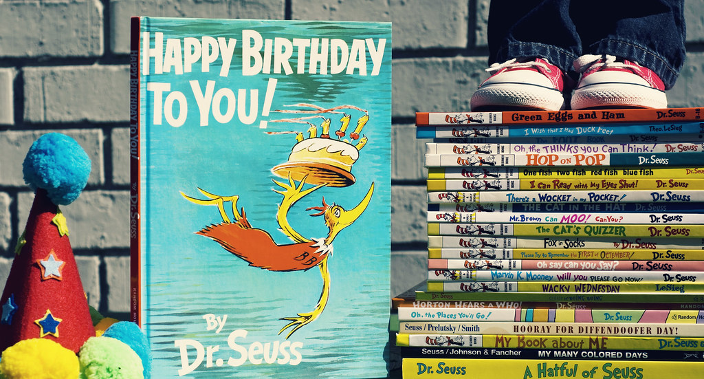 Happy Birthday to Dr. Seuss!!! Bench