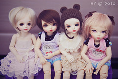 The kids (Hei Yan) Tags: family boy doll gaby shot group bisou tiny bjd fairyland uri ante customhouse boxopening angeai littlefee