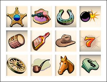 free Silver Bullet slot game symbols