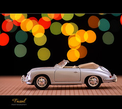 Porsche 356 (Faisal | Photography) Tags: red orange green car yellow toy classiccar colours dof bokeh explore frontpage porsche356speedster canonef70200mmf28lisusm canoneos50d faisal|photography