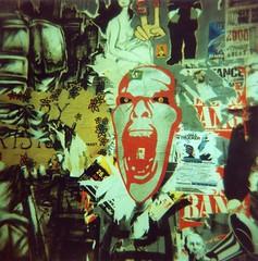 Scream (einheit) Tags: streetart berlin 120 6x6 mediumformat germany poster graffiti holga lomo xpro lomography crossprocessed crossprocess toycamera lofi slide crossprocessing streetartist expired germania 400asa expiredfilm berlino lomografia c41 crosspro boxhagenerstrasse intimeskino
