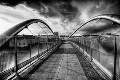Holyhead  (2) (OrestesRix) Tags: bridge blackandwhite bw wales hdr holyisland anglesey holyhead ferryport 3xp photomatix caergybi niksoftware celticgatewaybridge silverefexpro