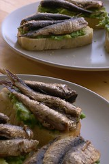 Sprats and Avocado Sandwiches