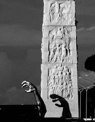Eur la stele e la mano (bruno brunelli) Tags: italy sculpture rome roma art italia hand arte mano stele eur scultura