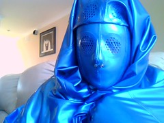 Contemplating (latexladyll) Tags: blue fetish veil rubber latex submission burqa silenced gagged enclosure bdsmlifestyle