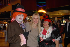 Mad Hatter, Seany Photographer, and the Red Queen
