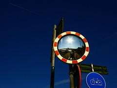 SUNnyDAY (Latrouwski) Tags: blue sky sun mirror blauw spiegel bleu antwerp zon refection reflectie