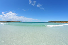 Eyre Peninsula (john white photos) Tags: ocean sea beach sand wave australia bluesky clean clear coastal southaustralia eyrepeninsula fisherybay johnwhitegettyimages