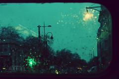 .. (- M7D . S h R a T y) Tags: street uk bus london cars night lights drops unitedkingdom bokeh calmness londonnight wordsbyme allrightsreserved londonsdiary~5