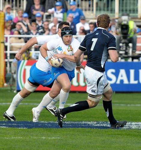 Ghiraldini contro la Scozia - foto DAK