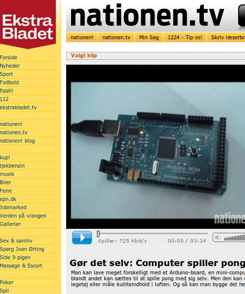 Arduino clip on Ekstra Bladet
