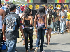 Back to Back (NigelDurrant) Tags: road street carnival ladies people men southamerica festival women guyana georgetown celebrations halter strut 2010 streetparty backless february23 youngladies mashramni