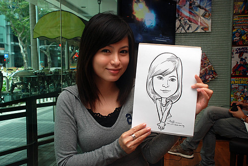 Caricature live sketching for M Hotel - 6
