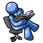 Blue Man Sitting Cross Legged in a Chair and Reading a Book Clipart Illustration (simplesolutiontech07) Tags: blue people man men businessman person reading book chair chairs books read business leisure concept concepts concentrate businessmen blueman businesspeople concentrating businessperson businessconcept businessconcepts