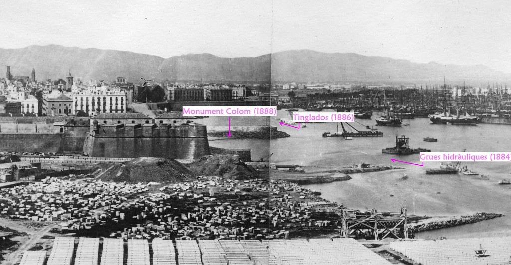 Vista parcial port Barcelona