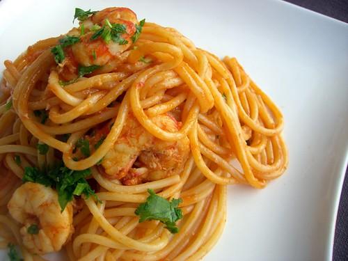 Spaghetti con i gamberoni