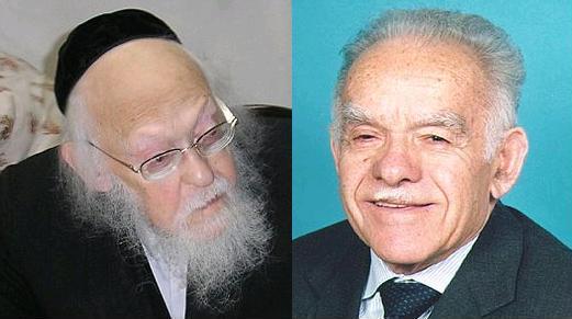 צילום יצחק שמיר: אתר הכנסת. צילום הרב אליישיב: בית השלום, ויקיפדיה