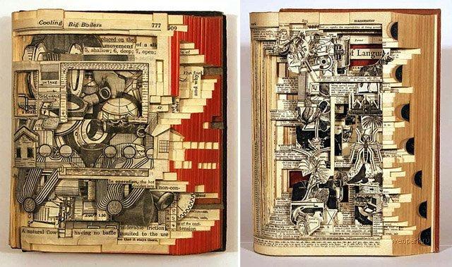 책을 이용한 예술 작품들