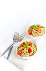 Macadamia Nut Pesto (stephsus) Tags: winter food 50mm nikon pasta spaghetti d90 foodstyling