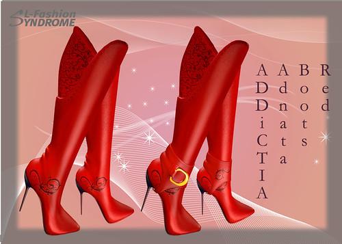 addictia boots red