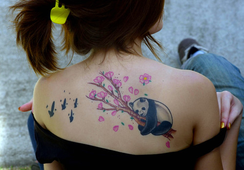 Panda Tattoos on Asian Women