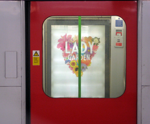 Lady Garden Tube Ad from door