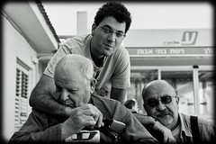 generations | דורות (Yoni Lerner) Tags: blackandwhite bw white black tmax grandfather grandpa generations fm2 סבא אבא פורטרט שחורלבן לבן שחור דורות oufdatedfilm