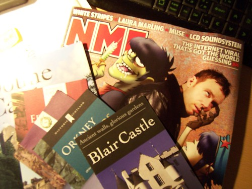 NME magazine and Castle booklet