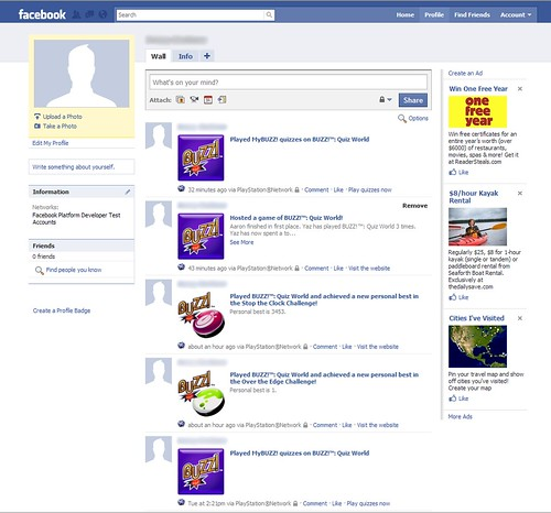 Buzz! Quiz World Facebook