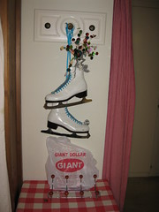 Winter Decor & Giant Dollar Coat Rack