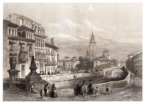 023-Plaza de Granada-Voyage pittoresque en Espagne et en Portugal 1852- Emile Bégin