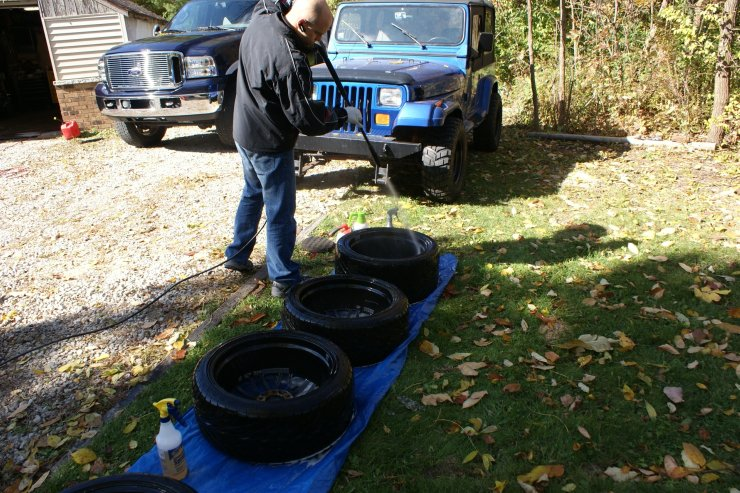 RX7 wheels rinse