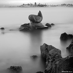 The great Sausalito seal with San Francisco cityscape view (davidyuweb) Tags: san francisco long exposure cityscape with view 10 great study filter seal nd sausalito continue the mywinners