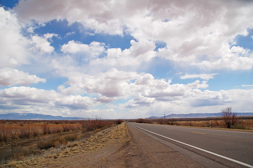 road and sky New Mexico
