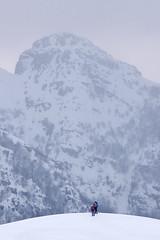 Verso il Resegone (Pierpaolo.) Tags: street trees winter light sunset wild sky people italy sun mountain snow mountains alps cold nature beautiful alberi clouds contrast montagne trekking walking landscape daylight big high rocks europa europe track italia tramonto nuvole quiet natural little candid magic natura persone cielo neve openspace sole rocce inverno alpi bergamo montagna calma freddo footprint luce monti orme magico canti contrasto bellissimo traccia escursione tranquillit fuipiano valleimagna ciaspolata canoneos30d selvaggio prealpiorobie costadelpalio canon7030070300mmisusm zucdivalbona sentiero571cai sentiero579acai ciaspolatori
