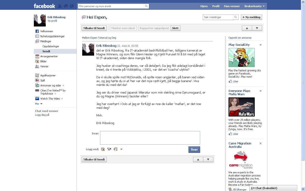 espen tokerud facebook melding
